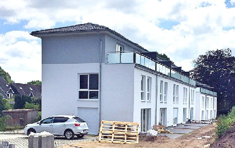 Bauabschnitt 1 auf dem Nachbargrundstück in der Fertigstellung