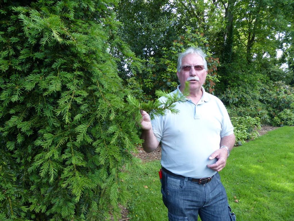 André Cozic créateur du jardin