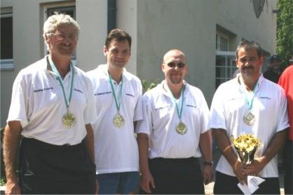 v.l. Alfred Moser, Christian Stockhammer, Oliver Nestlehner und Udo Derfler