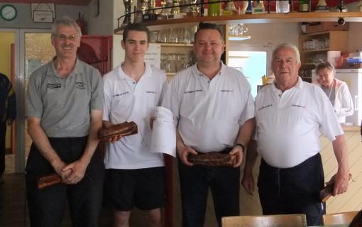 v.l. Alfred Moser, Martin Stockhammer, Werner Dienstl und Karl Stadler