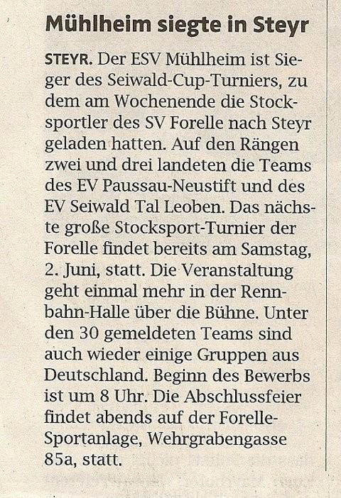 Bericht OÖN, 24. Mai 2012