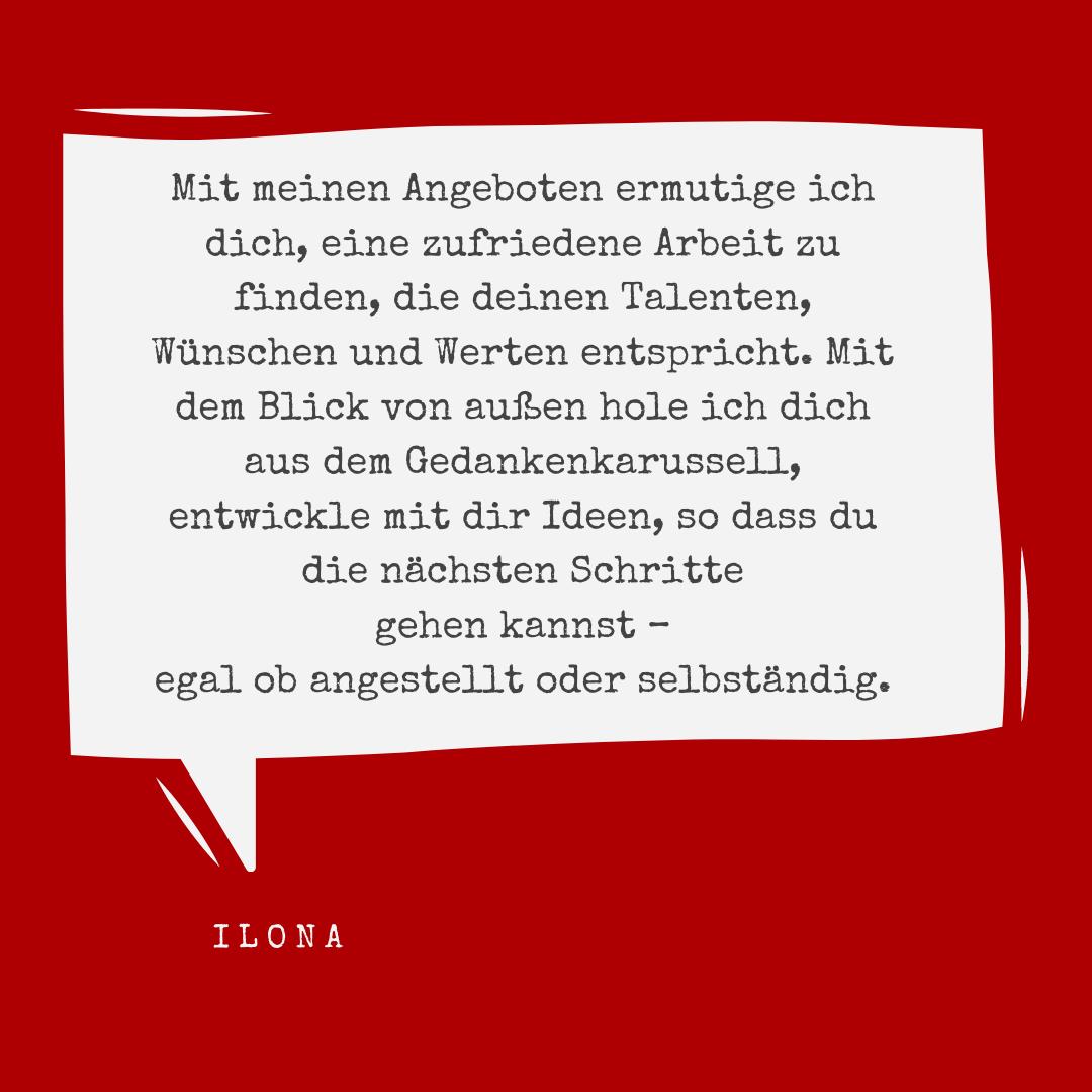 Empfehlungssatz von Dr. Ilona Rau - Selbstmarketing
