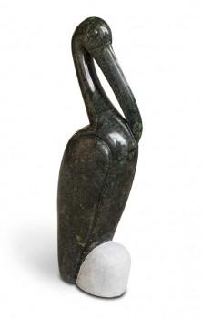 Shona Art Stein Skulptur handgefertigt aus Fruit Serpentine.  © copyright neuerraum