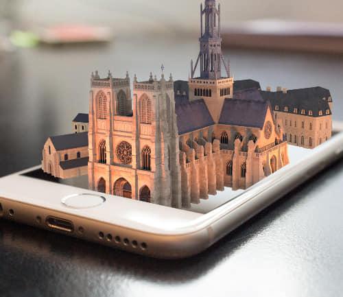 (DR) Office de tourisme du Val de Somme-Abbaye de Corbie 1750-Réalité virtuelle-Chambres d'hôtes-B&B-Guesthouse-Corbie-Villers Bretonneux