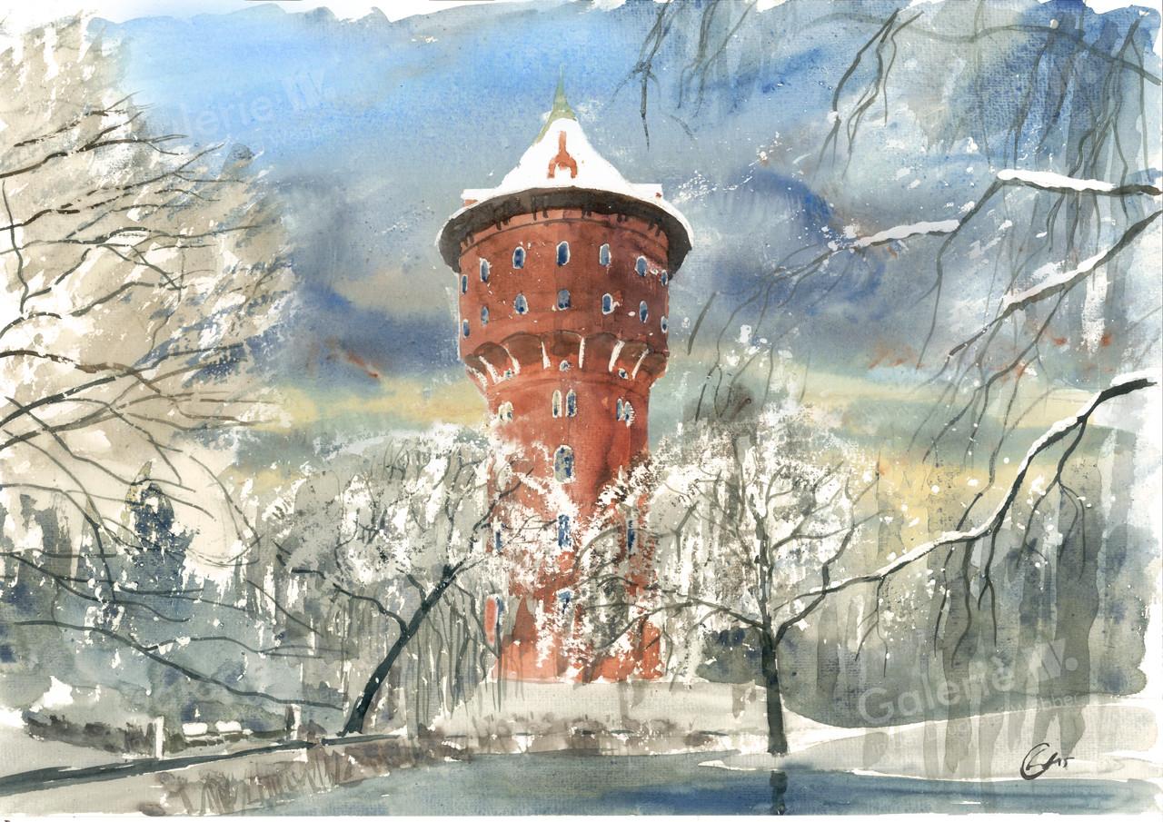 82110 Wasserturm im Winter