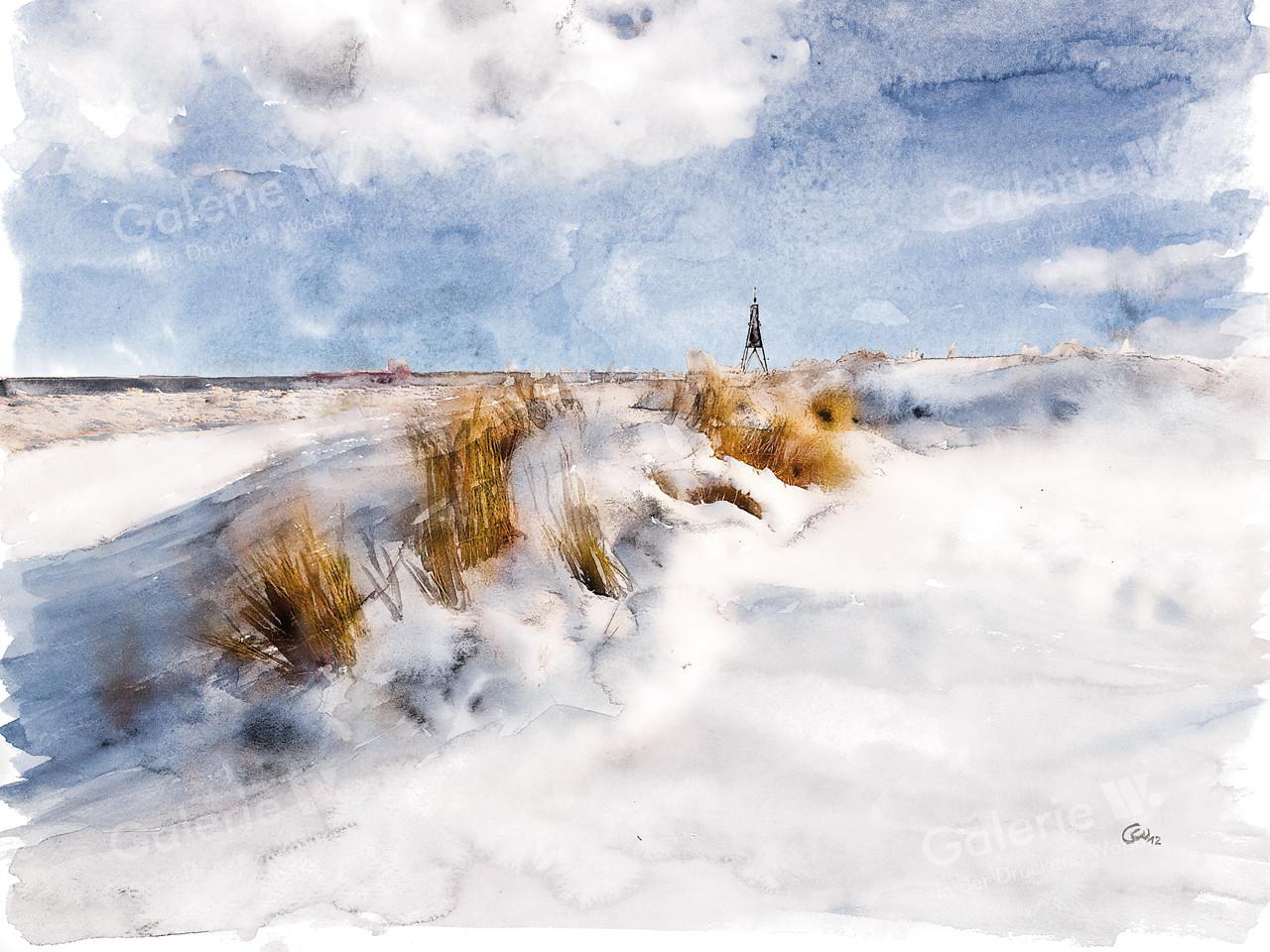 82108 Kugelbake im Schnee