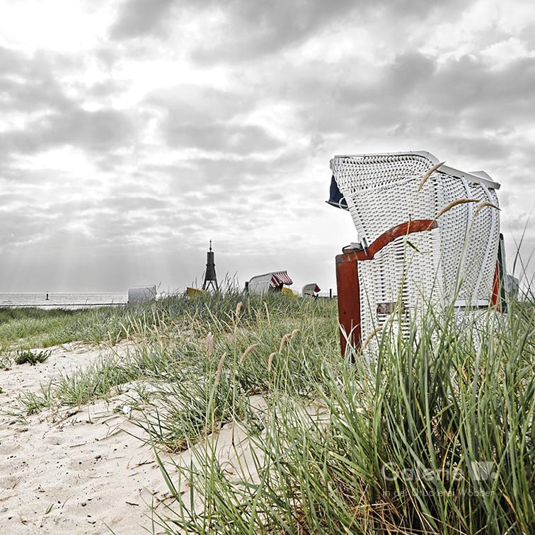 31581 Kugelbake Strandkorb