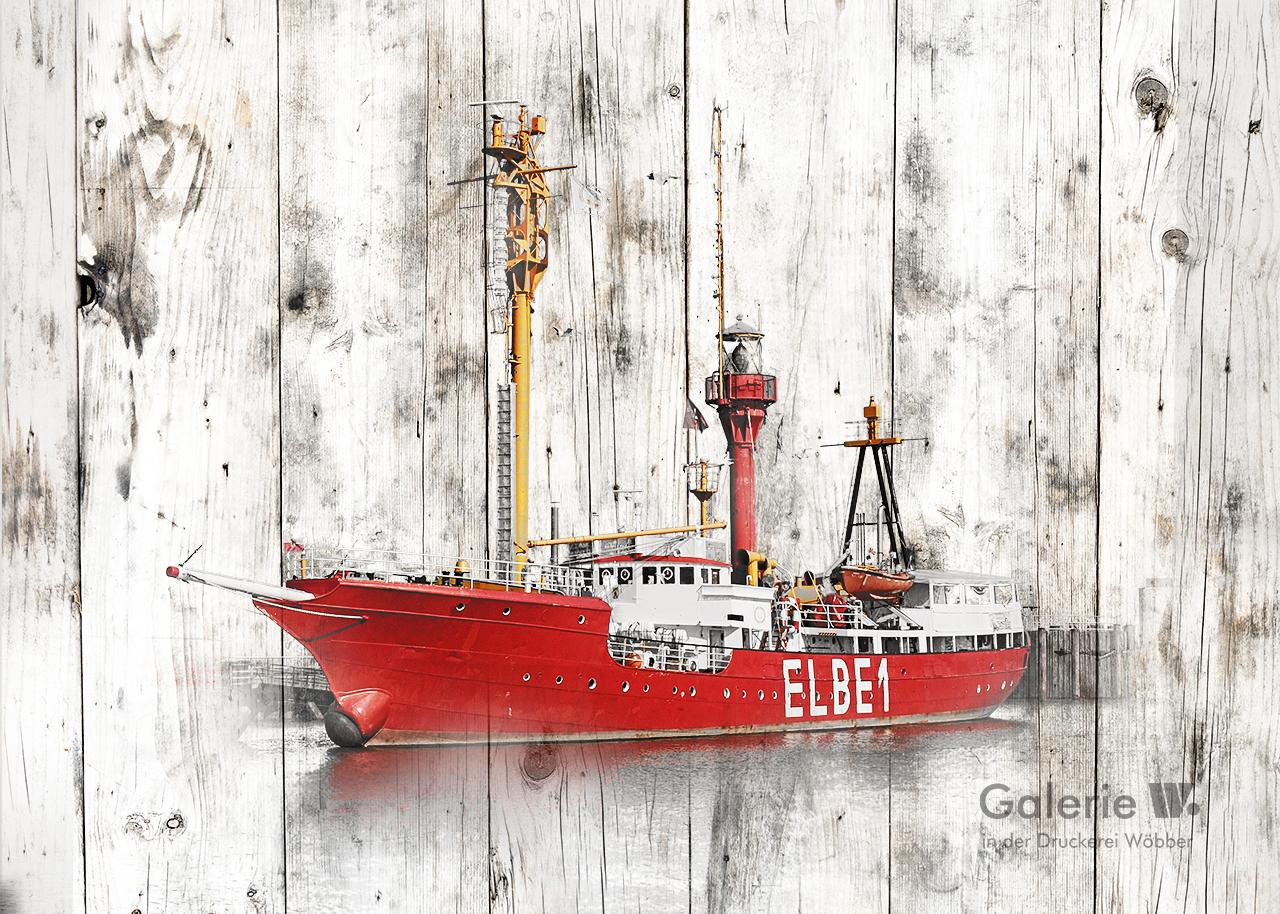 40129 Elbe 1 in Holzoptik