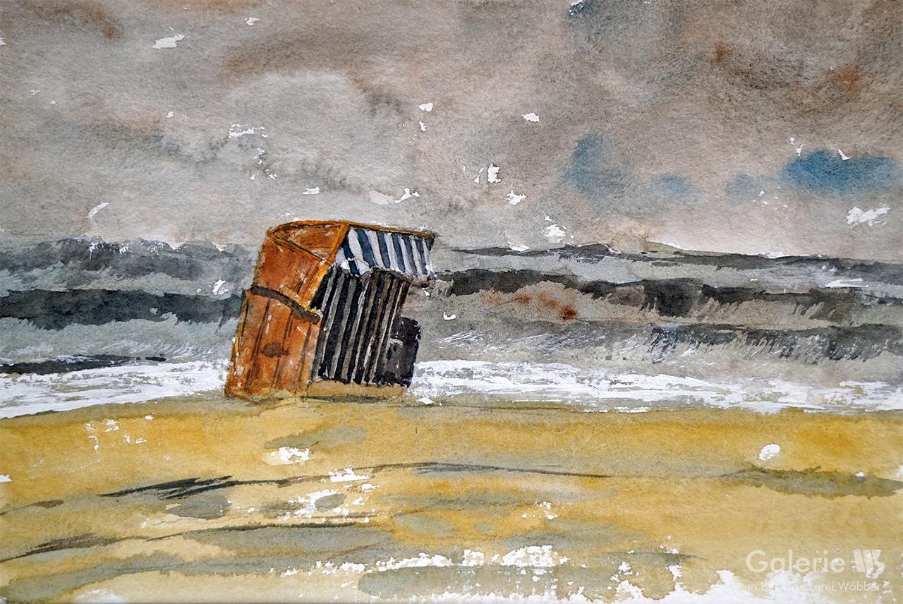 51174 Strandkorb im Sturm