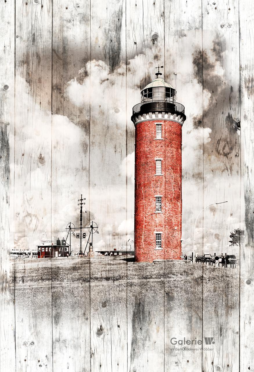 40120 Leuchtturm in Holzoptik