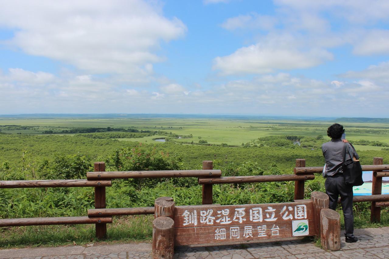 釧路湿原・細岡展望台(夏)
