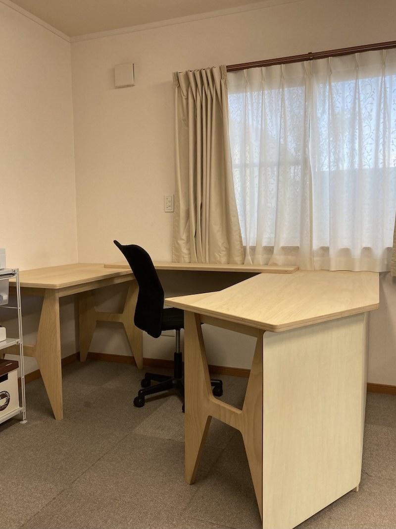 リモート・テレワーク用テーブル完成
