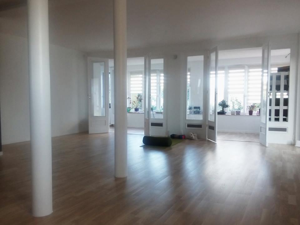 salle de yoga après travaux