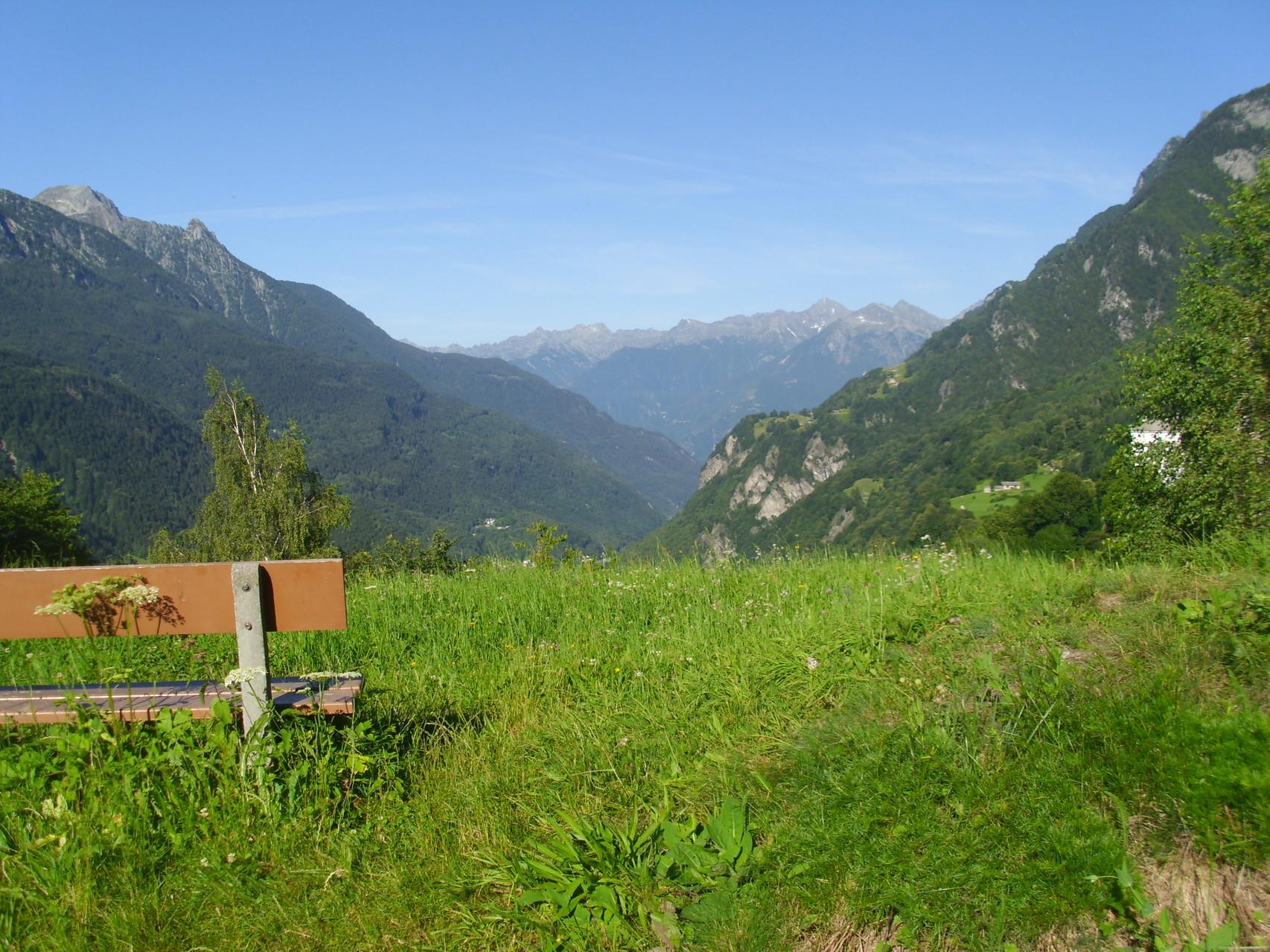 Wunderschöner Ausblick nach Italien.