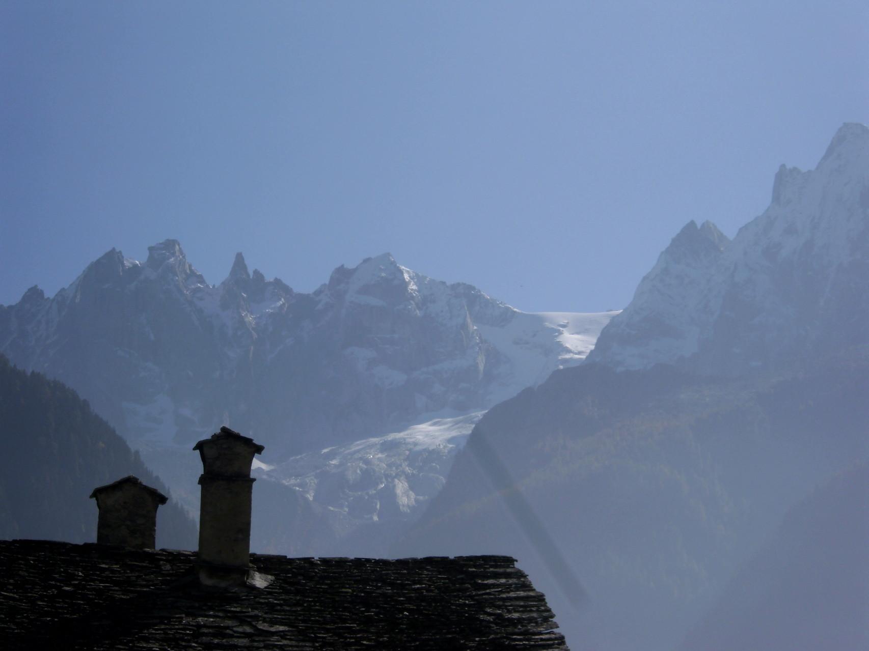 Sicht auf die Sciora-Berge