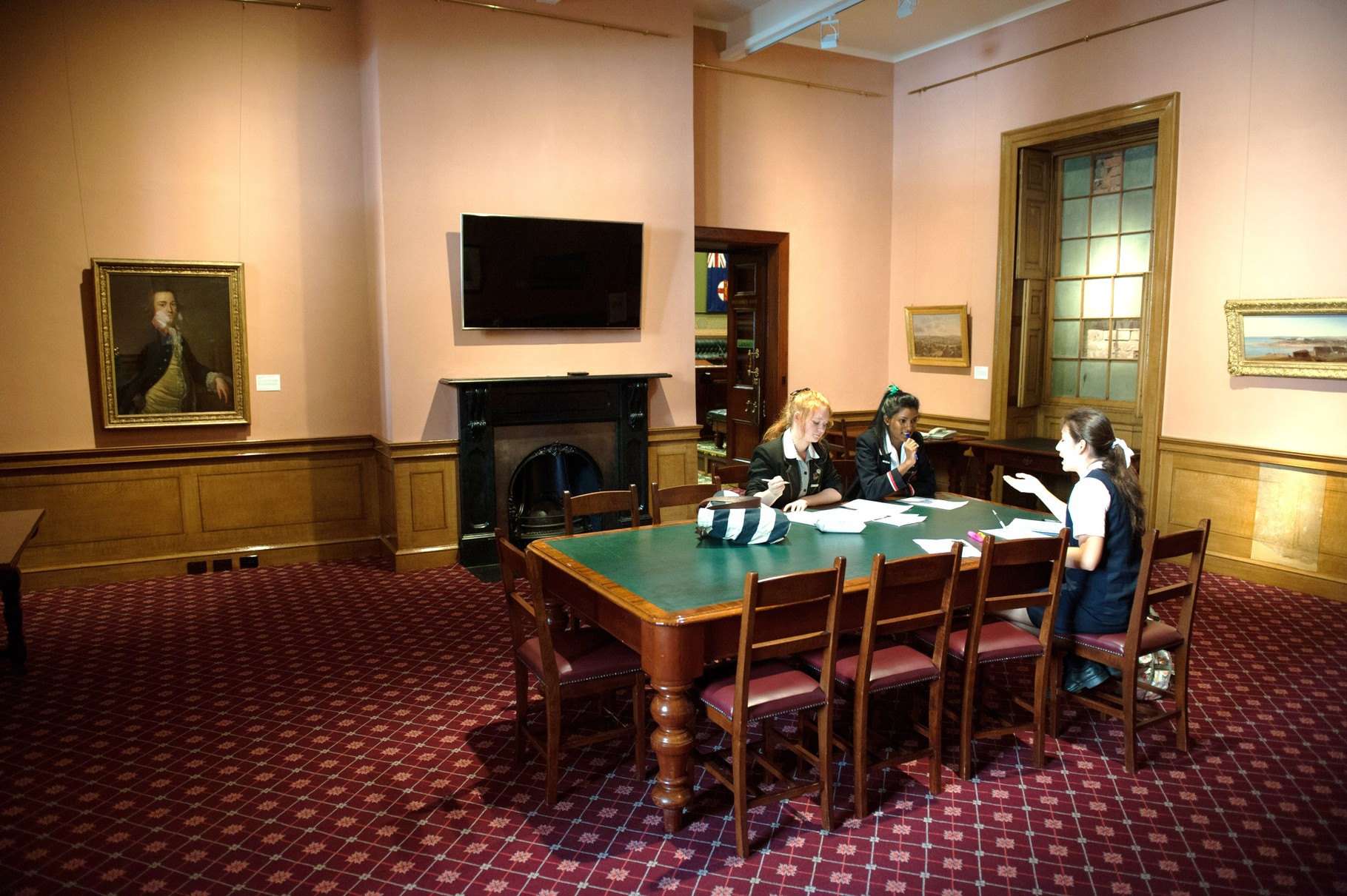 Students preparing for the debate challenge in NSW Parliament