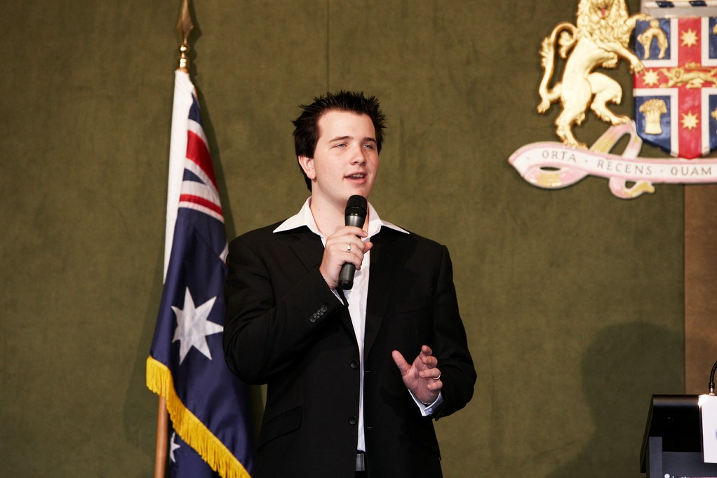 "Nicholas performes ""This is the Moment"" at Commonwealth Day lunch"