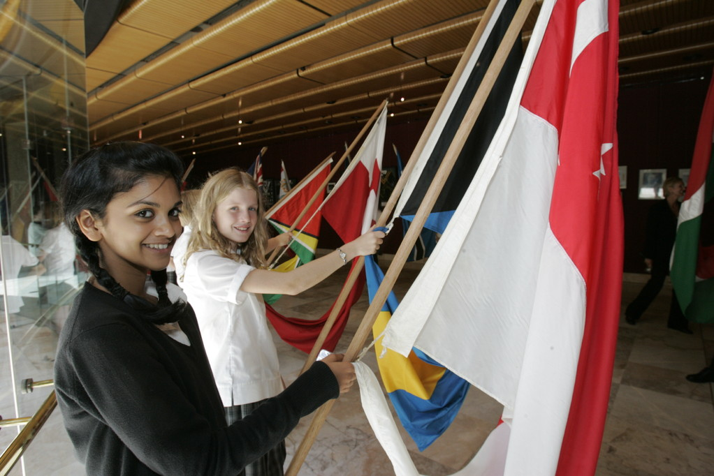 Our proud NSW Public School students as flag bearers of the Commonwealth of Nations