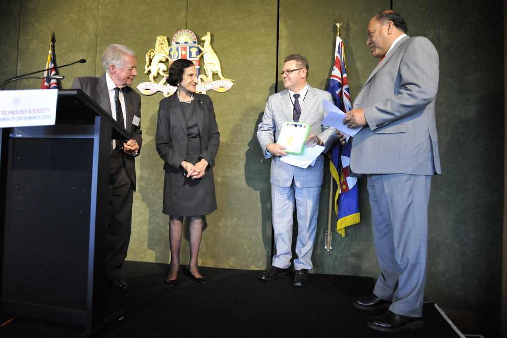 Recipients of the Australia Youth Trust special grant to the Samoan Government and the 'One Laptop per Child' program