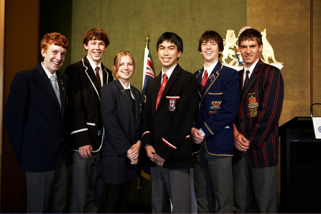 Students who took part in the debate in NSW Parliament House