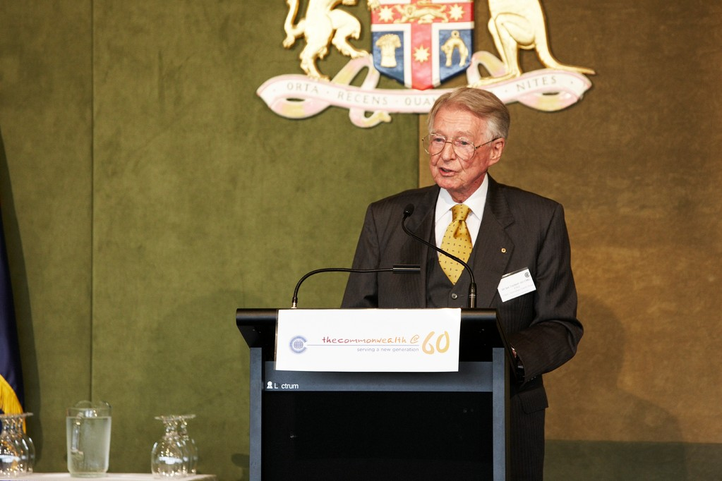 Sir Ian Turbott AO CVO CMG as special guest speaker at Commonwealth Day celebration