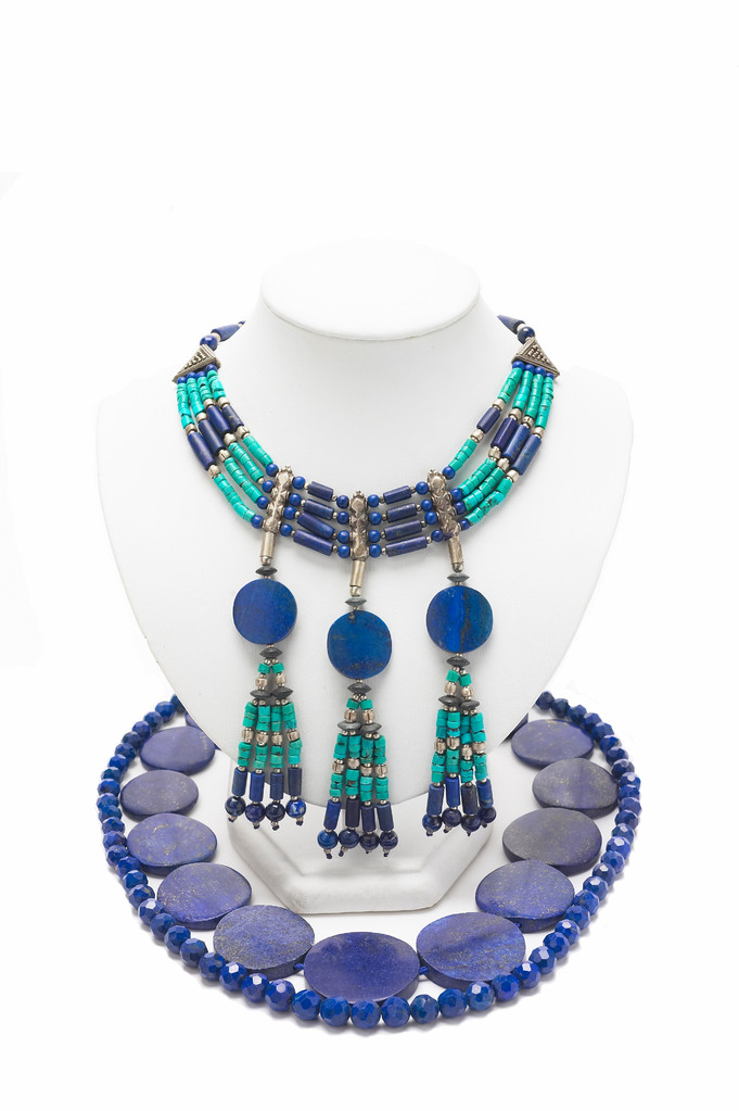 Lapis Lazuli with Turquoise necklace, Pakistan and India