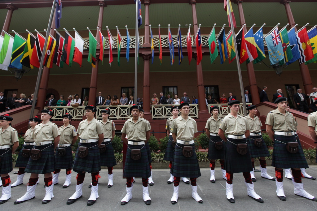Scots College take guard at Commonwealth Day celebration
