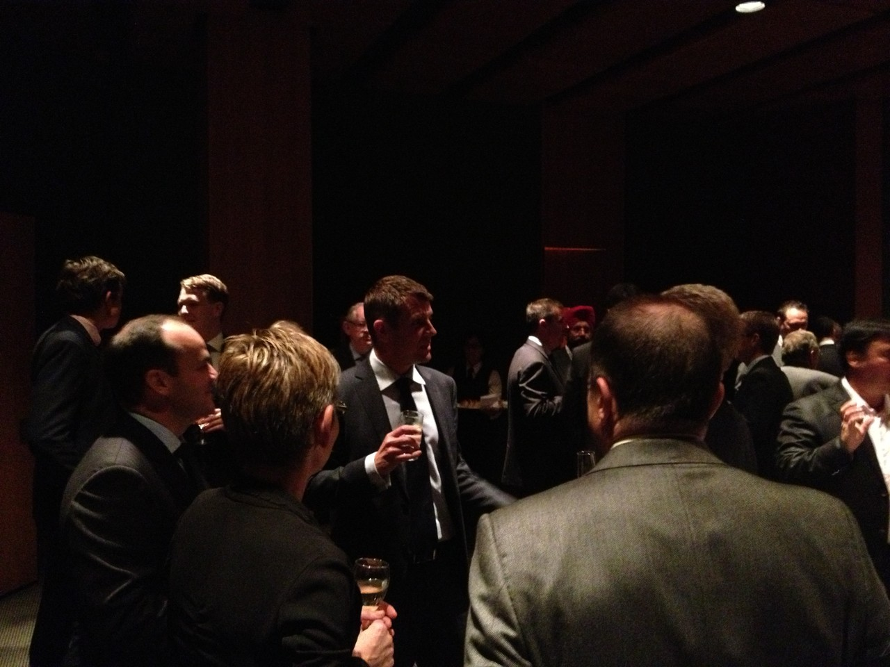 Hon Mike Baird MP networks with guests