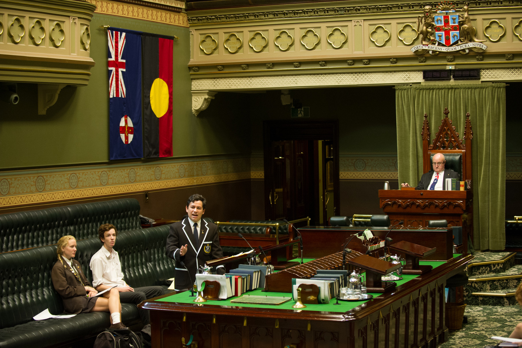 NSW Public Combined High Schools Team gear up for the debate