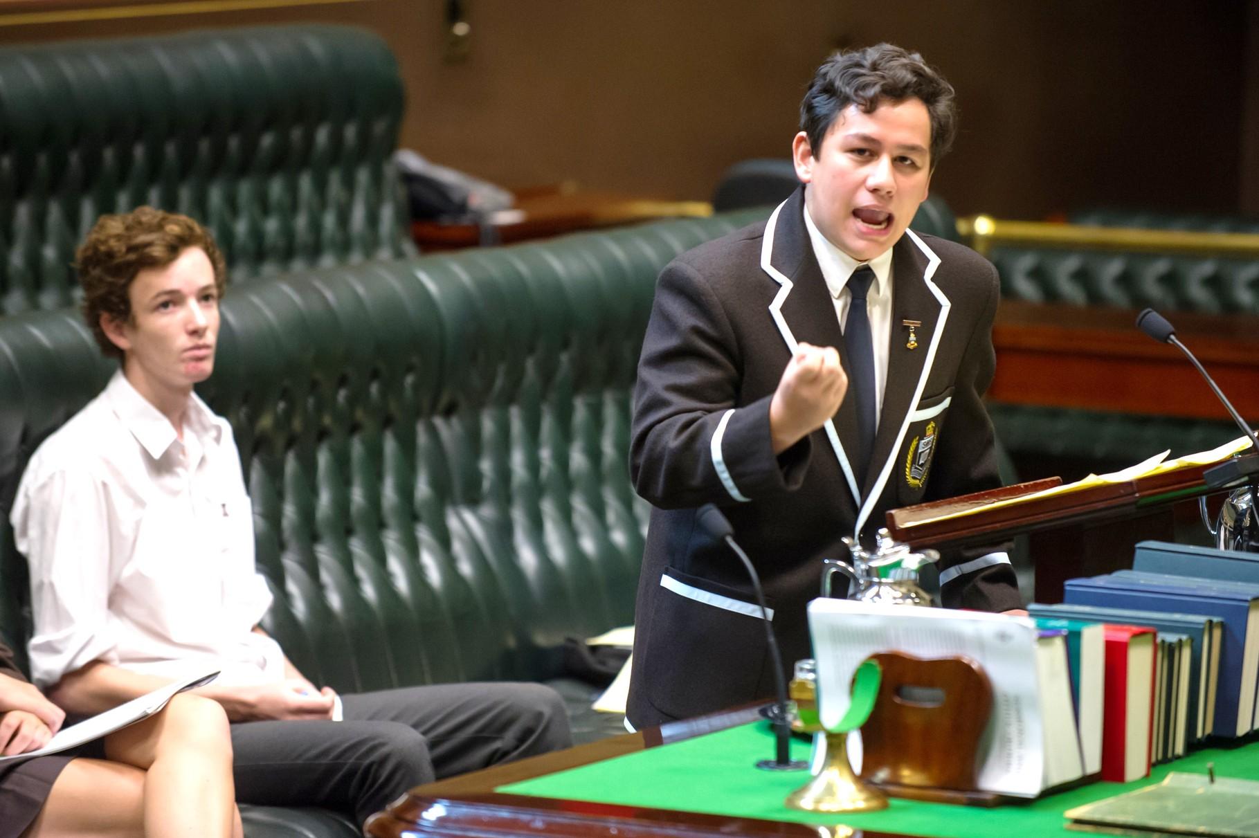 Sydney Boys High representative takes out the best 'public speaker' award
