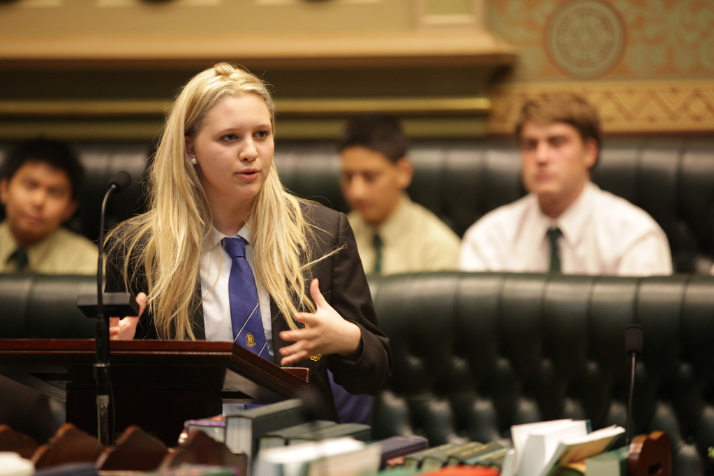 Natalie from Penrith High School, one of the members of the NSW Public Schools debate team