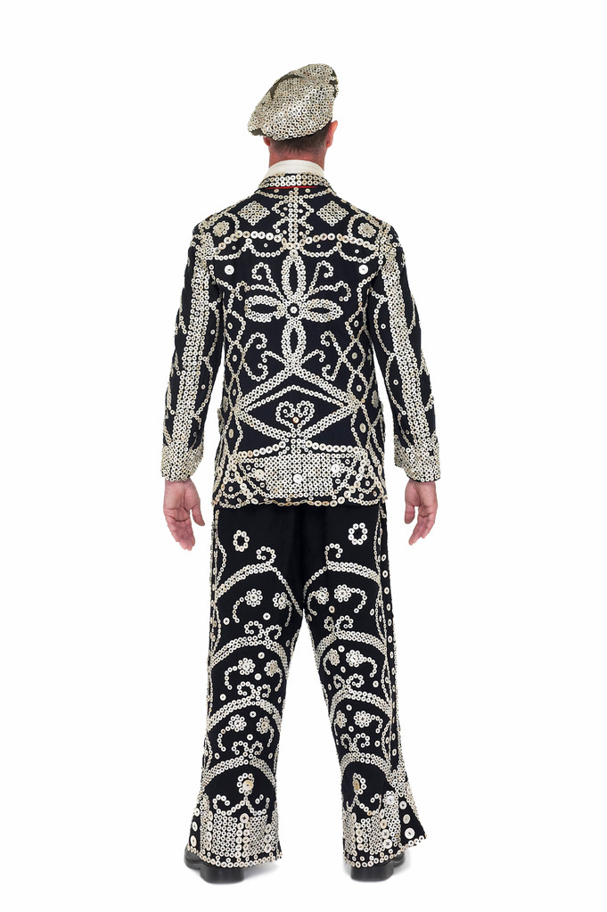 Rowe Dunedin, Pearly King costume circa 1930, London