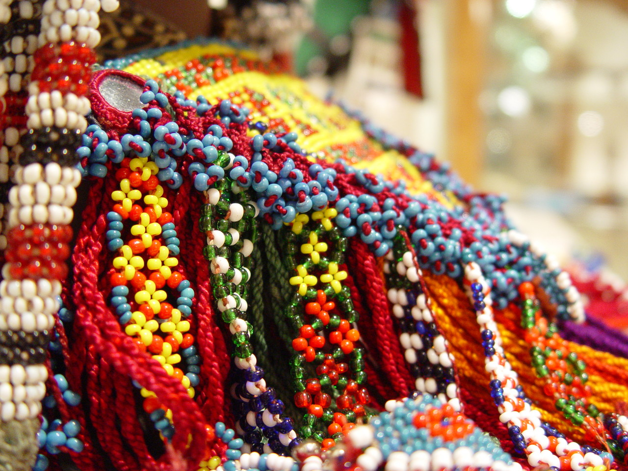 Beads as displayed for many cultures