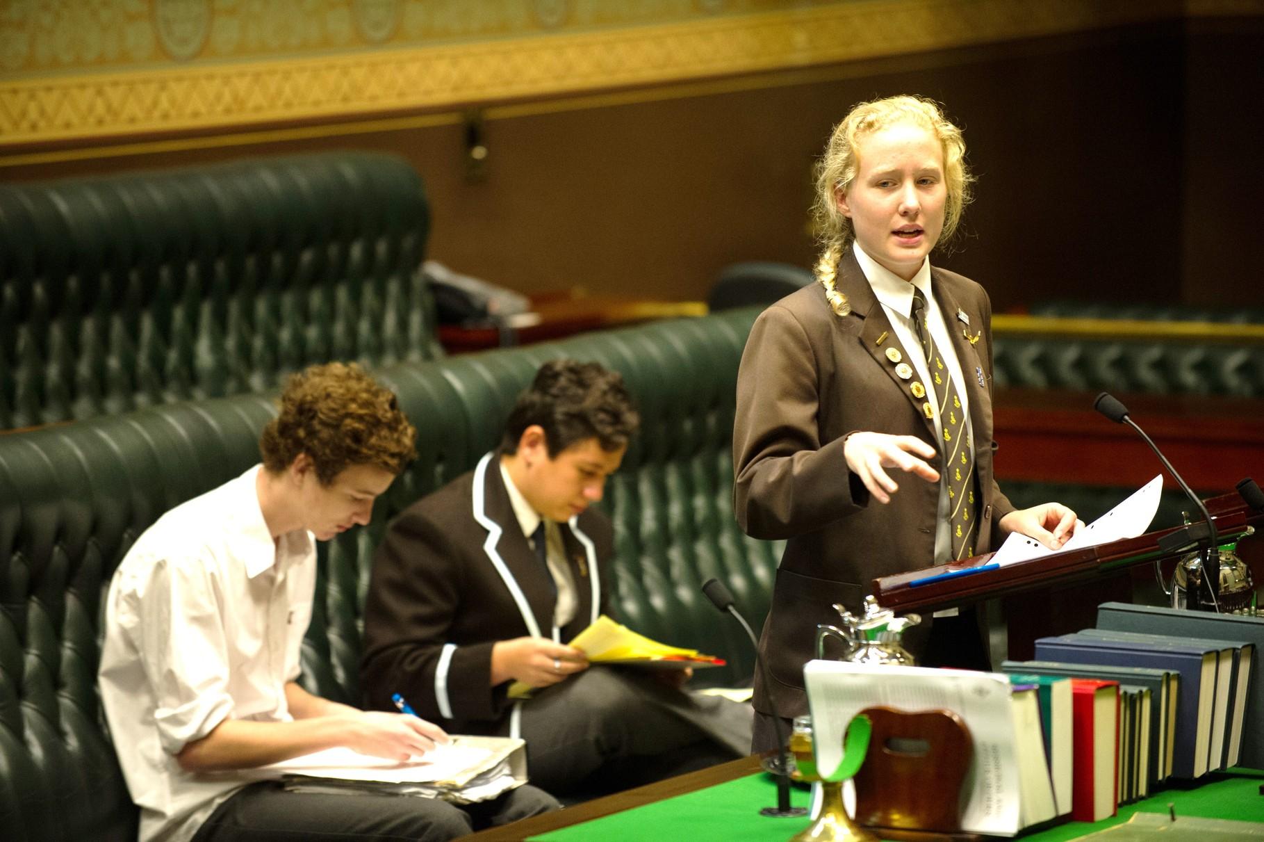 Sydney Girls High School put forward the case to the affirmative