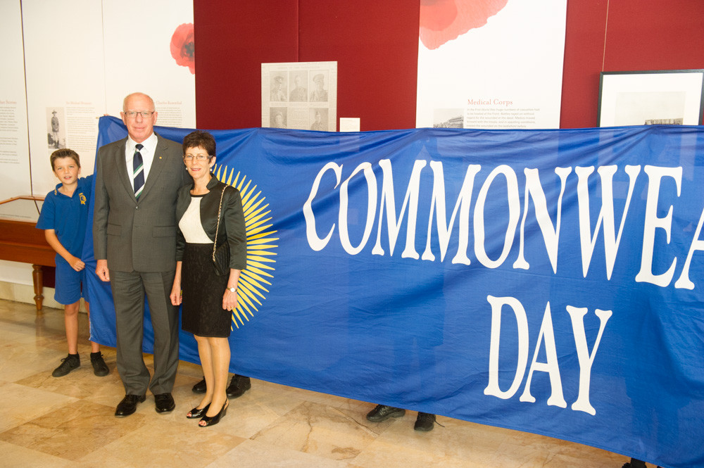 His Excellency and Mrs Linda Hurley attend their first Commonwealth Day celebrations