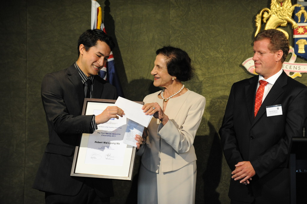 Robert Ma, Tom Harvey Award recipient in 2011 for his contribution in supporting indigenous high school students in the Redfern-Waterloo area, Sydney