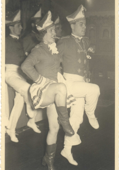 1958 Das Tanzpaar unseres Tanzkorps Lotti Gruhn und Ernst Mannz