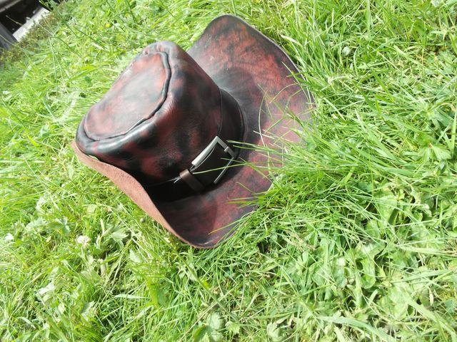 Ceinture tour de chapeau cuir