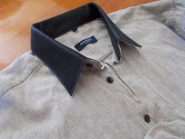 Taille et montage d'un col en cuir