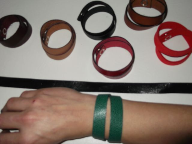 Bracelet cuir double tour, toutes couleurs 10€
