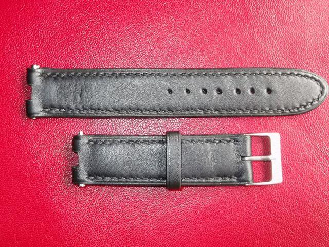 Bracelet montre sur mesure, haut de gamme , Cuir veau Couture sellier