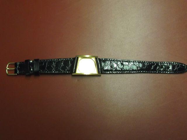 Bracelet montre sur mesure, haut de gamme, cuir veau , Couture sellier