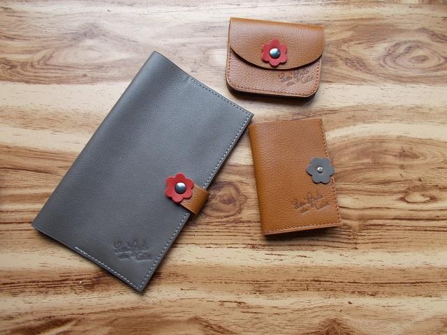 Ensemble porte-monnaie, porte-monnaie, porte-carte, cuir veau, vachette
