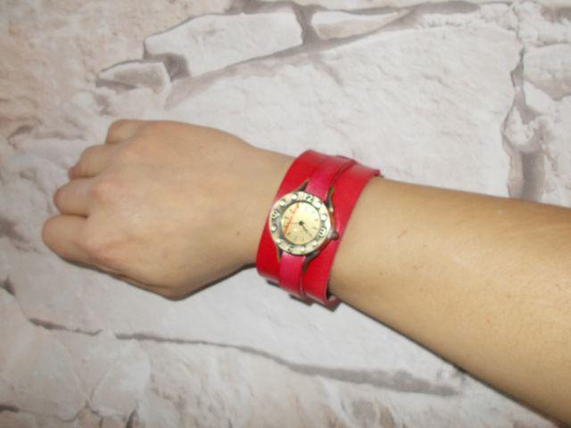 Bracelet montre cuir végétal, sur mesure