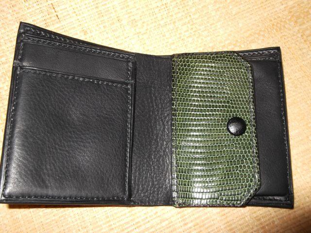 5 poches + cuir Lézard véritable