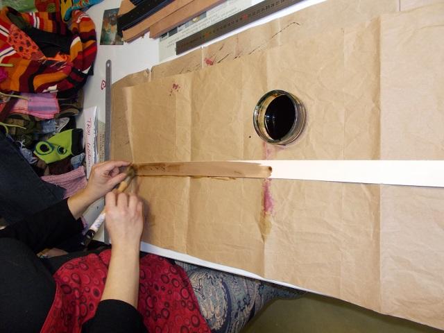 Teinture à la main des ceintures cuir naturel, toutes teintes possible