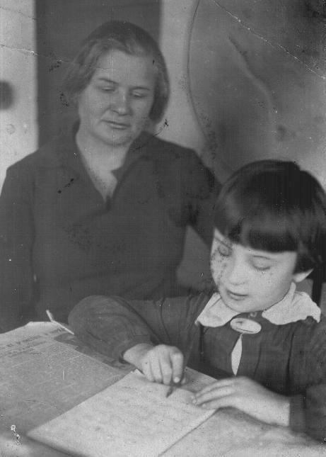 Цветкова М.А. с ученицей, 1935 г.