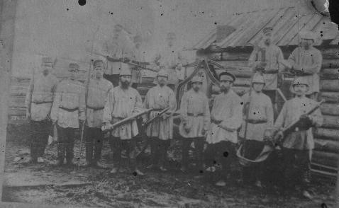Пожарная дружина с.Бор, 1925 г.