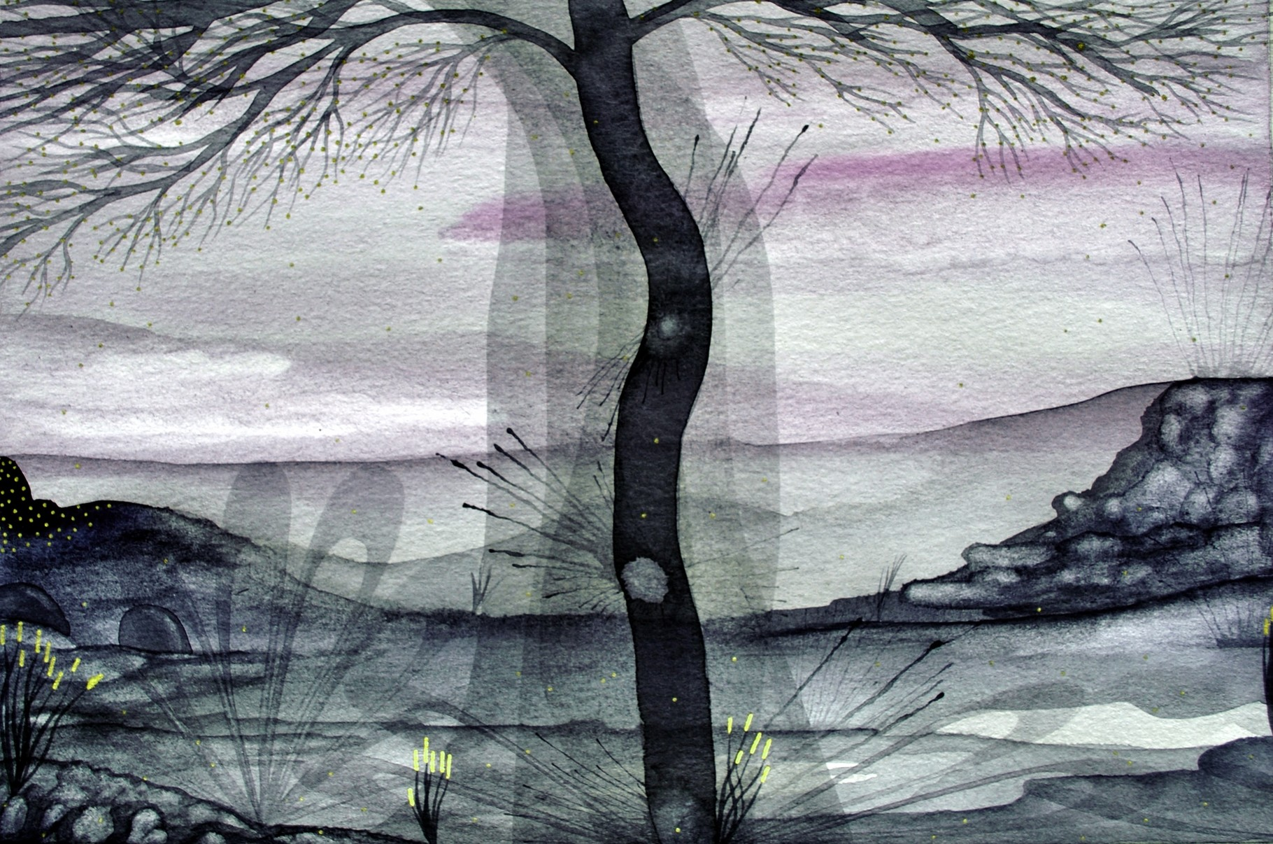 2016 sublime trees, watercolors of contemporary landscapes.