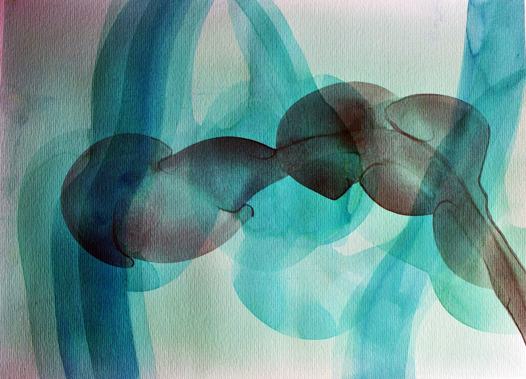 """Essentia"" series, 2015, contemporary watercolor"